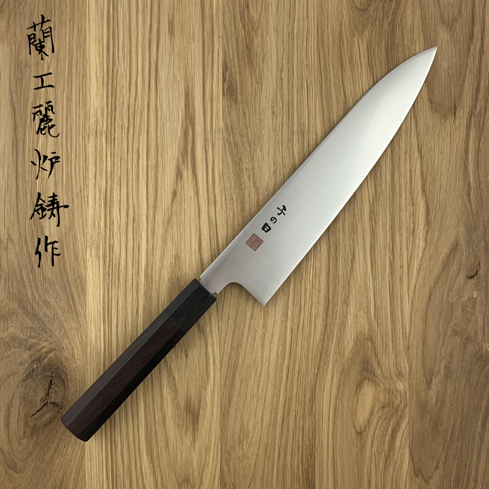 NENOHI Double edged Japanese  gyuto 240 mm octagonal ebony handle