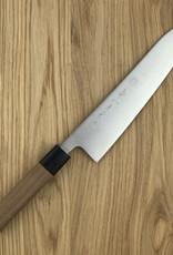 KIKUICHI Ginsan Sanmai Walnut Handle Gyuto 180mm