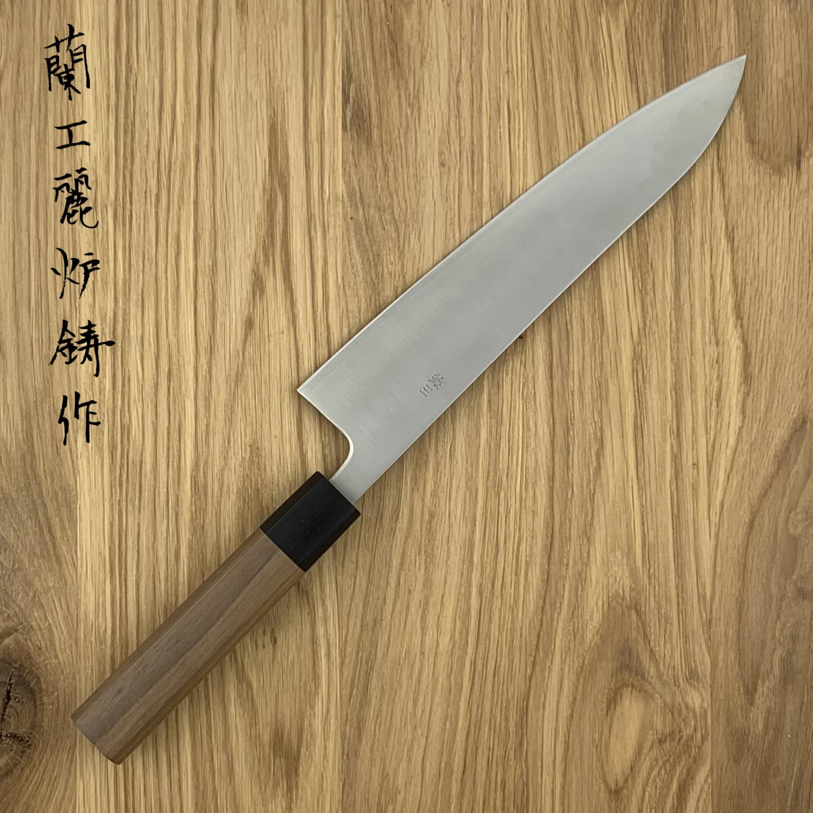 KIKUICHI Ginsan Sanmai Walnut Handle Gyuto 240mm