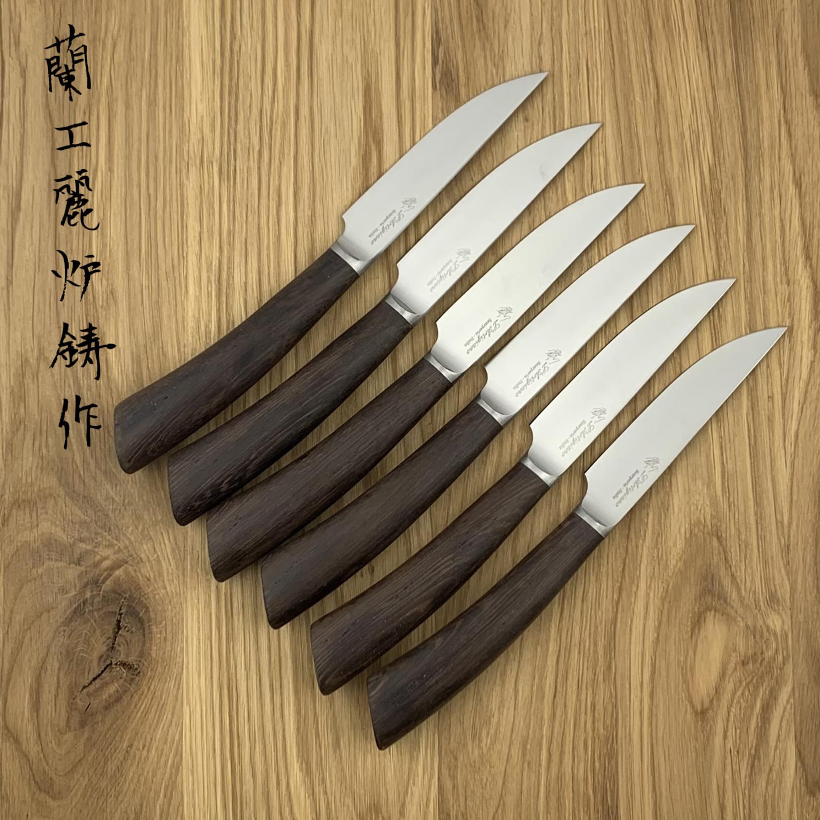 L'ARTIGIANO SCARPERIA Rustico steak knives set wenge (6 items)