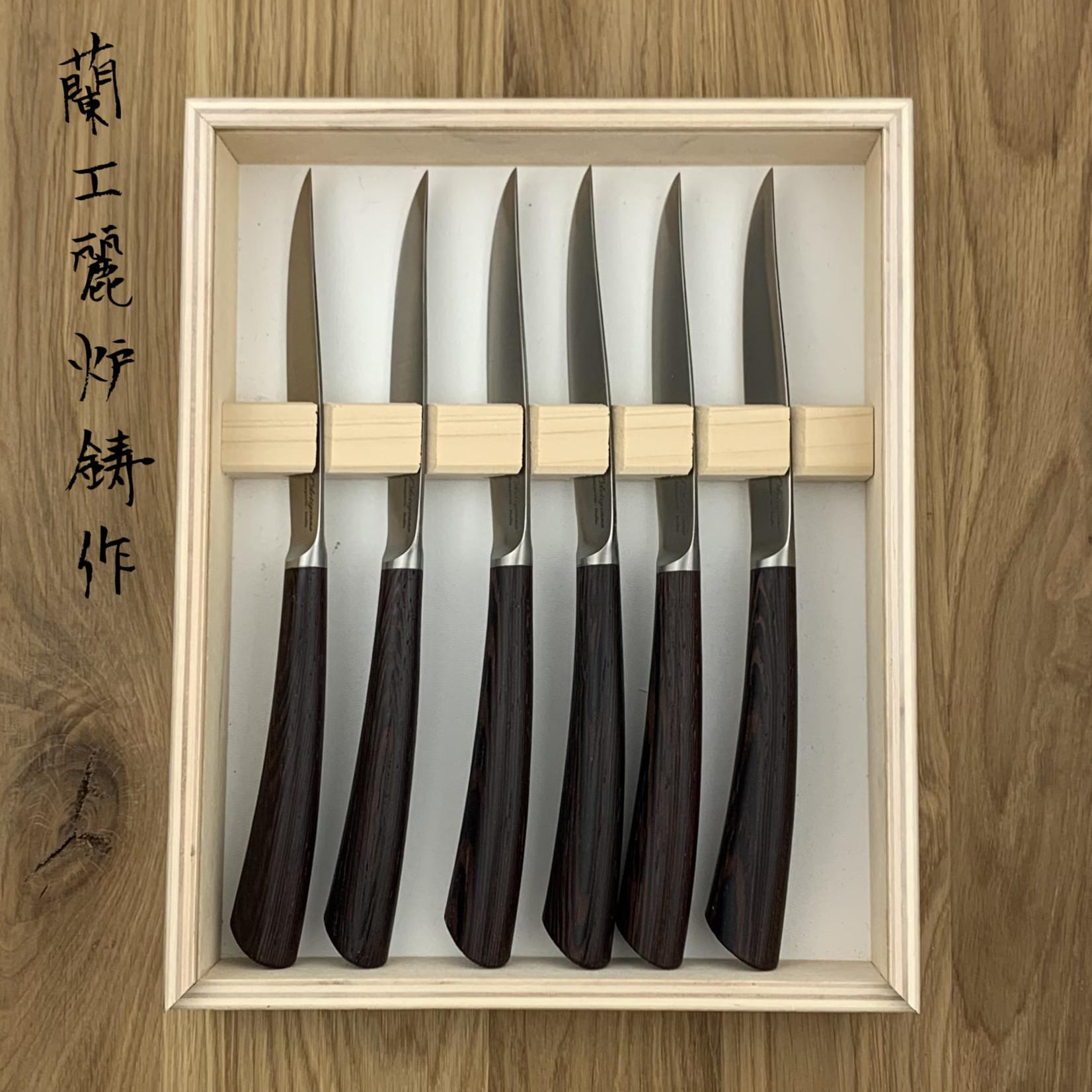 L'ARTIGIANO SCARPERIA Nobile steak knives set wenge (6 items)