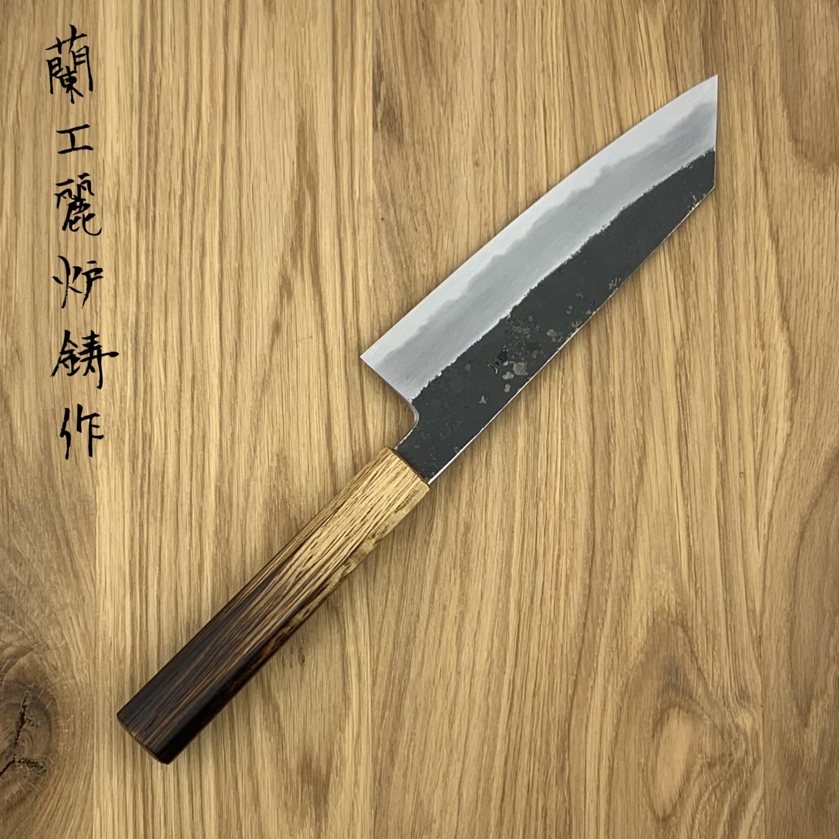 OUL SUMI Bunka 180 mm kurouichi white #2 WA burned oak