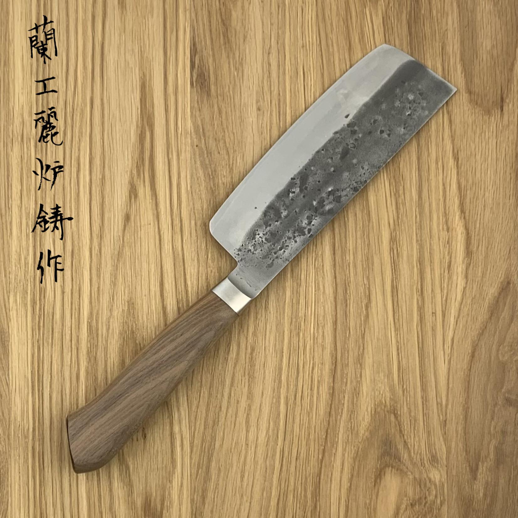 TADAFUSA Nakiri 150mm Aogami #2 Walnoot heft TFNA150NW