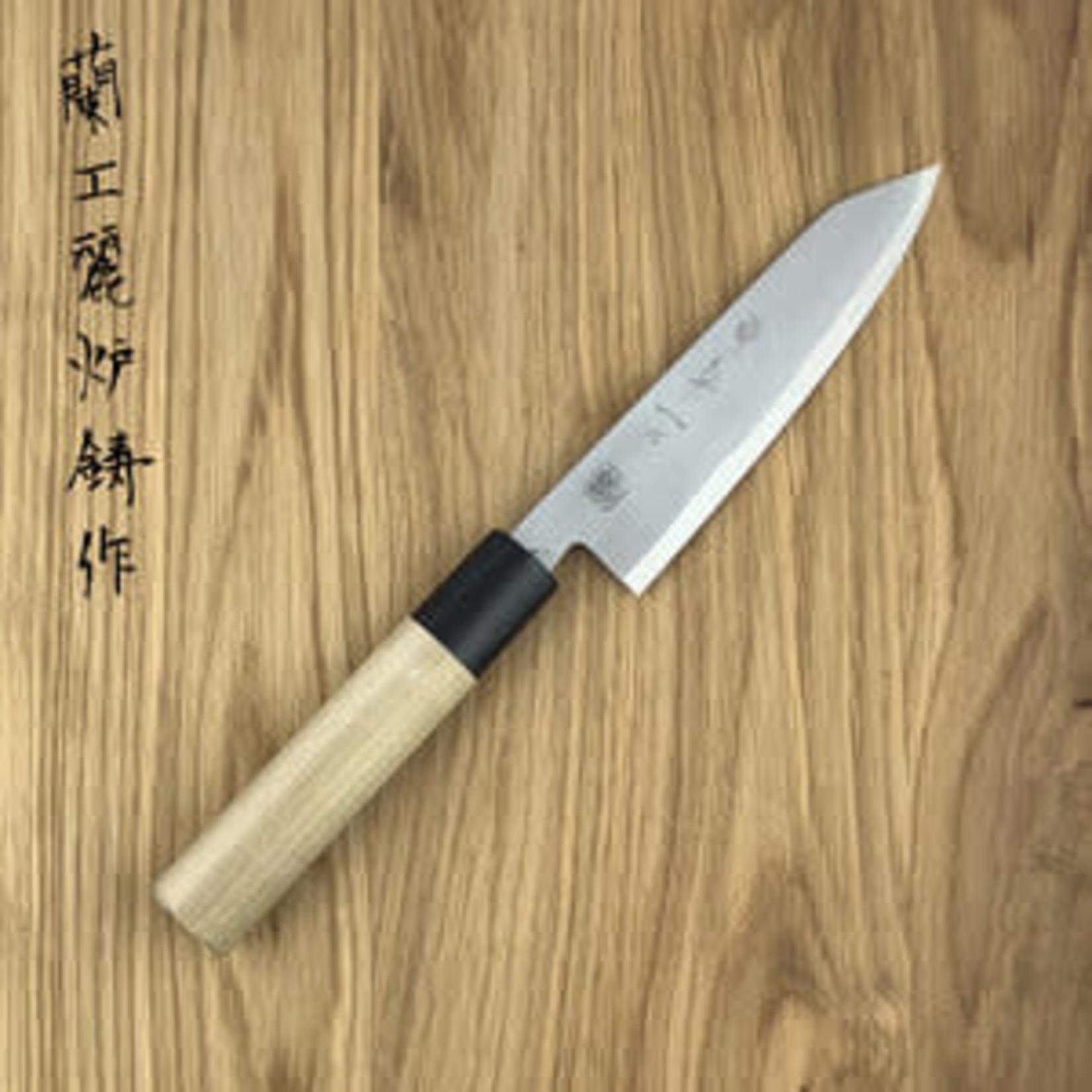 KIKUICHI Kokaji Petty White Carbon 150 mm Mag/Ovaal Handle With Saya