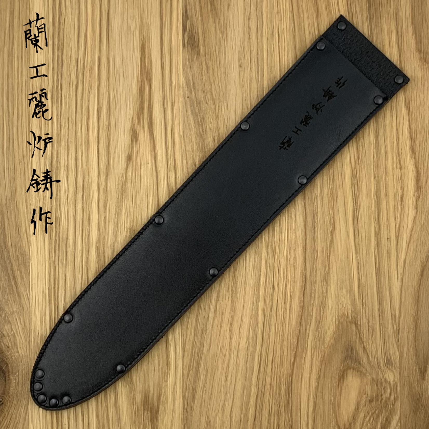 WUNSCHLEDER Saya Sujihiki wide 300 mm zwart