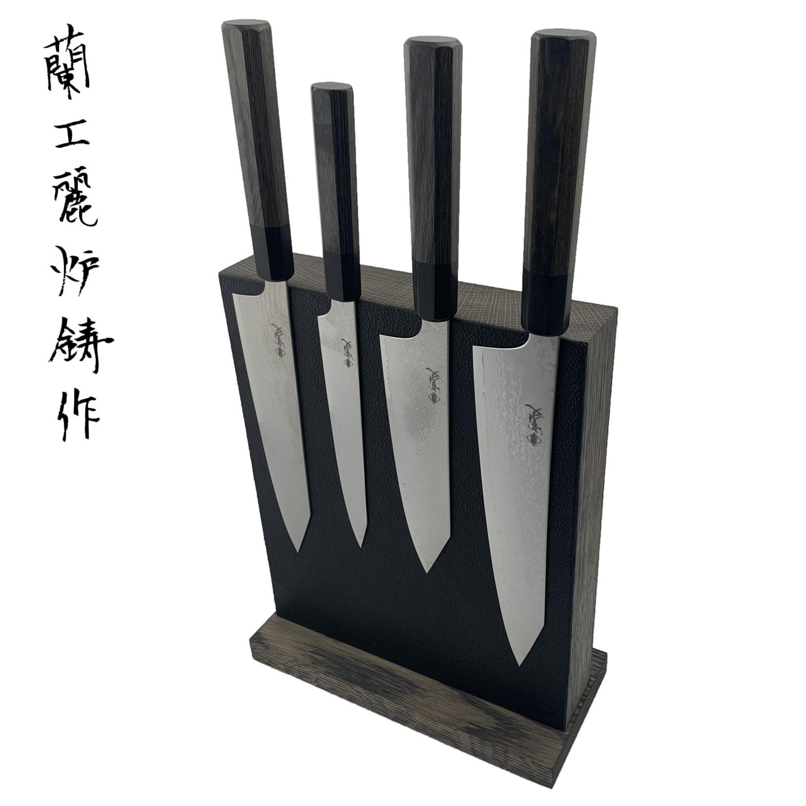 PIOTR THE BEAR knifestand 240 mm black leather