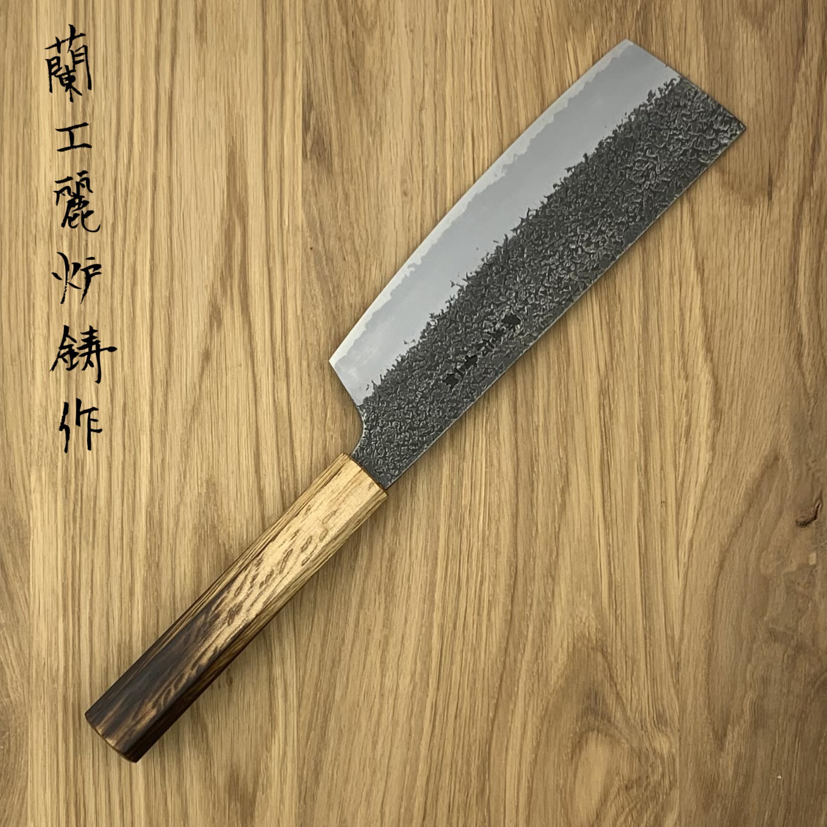 SAKAI TAKAYUKI Homura Guren Blue #2 Nakiri 180 mm 01186