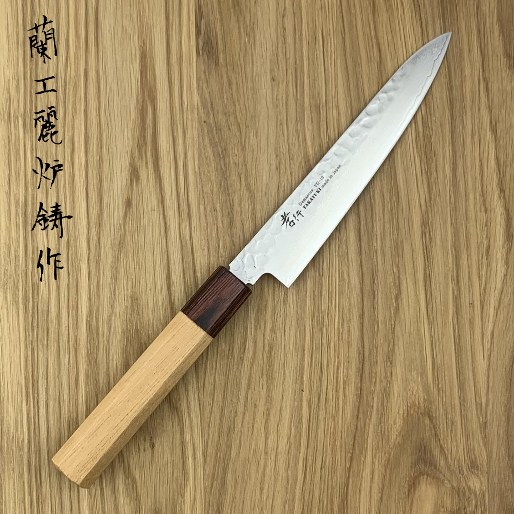 SAKAI TAKAYUKI 33 layers hammered  Petty 150 mm Japanese zelkova handle 07471