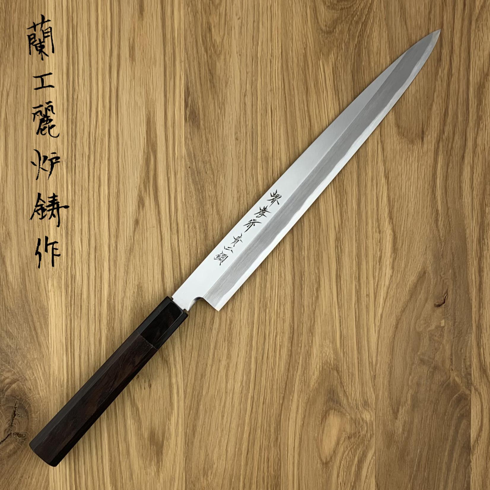 SAKAI TAKAYUKI Yanagiba 270 mm Blue #2 ebony 01204