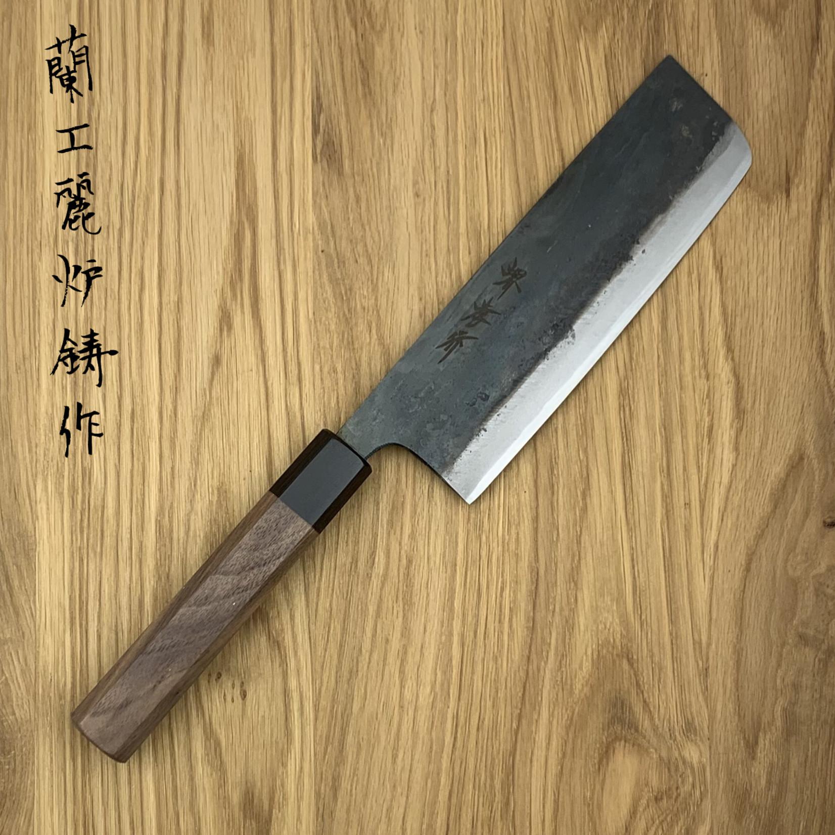 SAKAI TAKAYUKI Blue #2 Kurouchi Nakiri 170 mm 01173