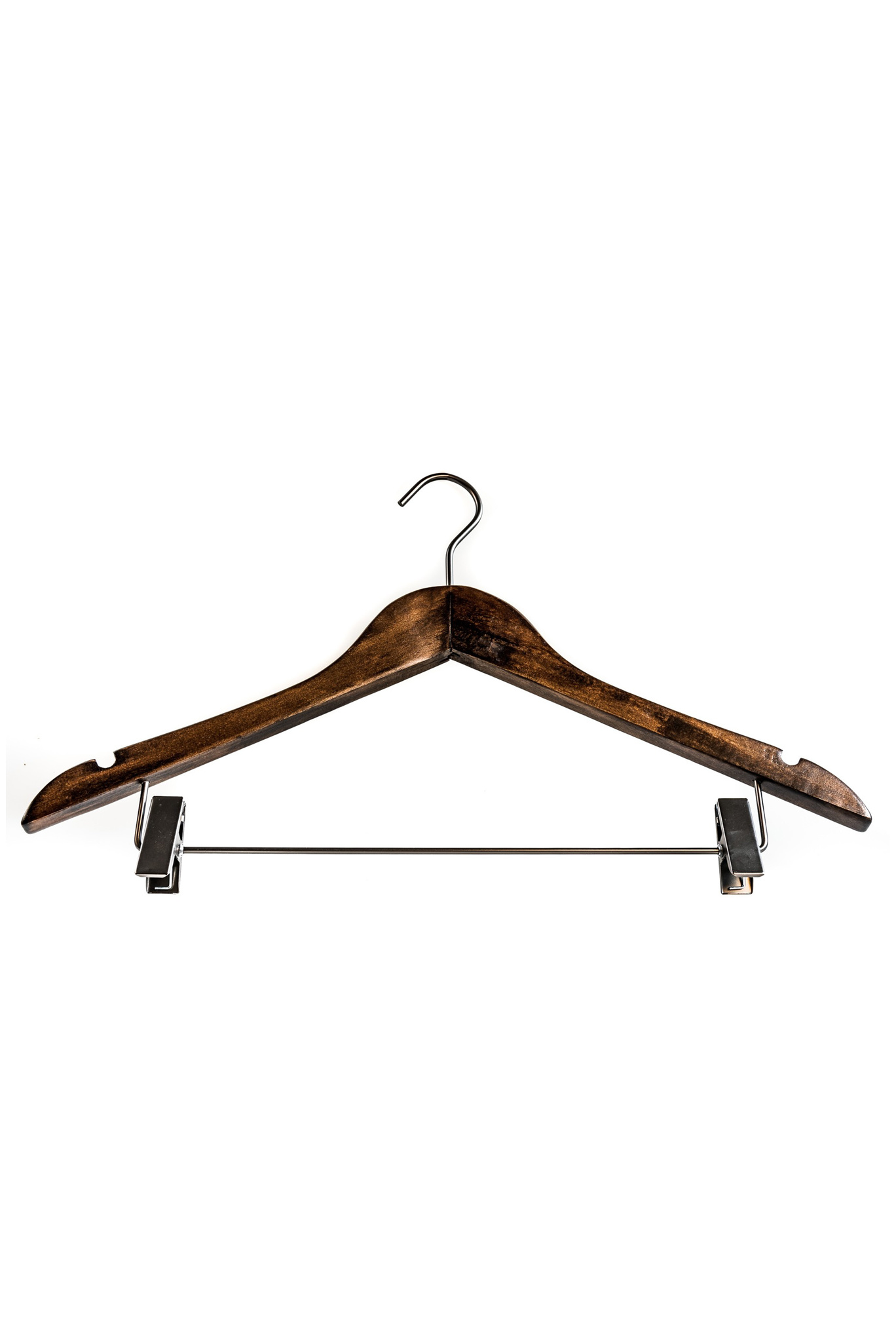 Pillows Wooden hanger with skirt clips (set of 4)