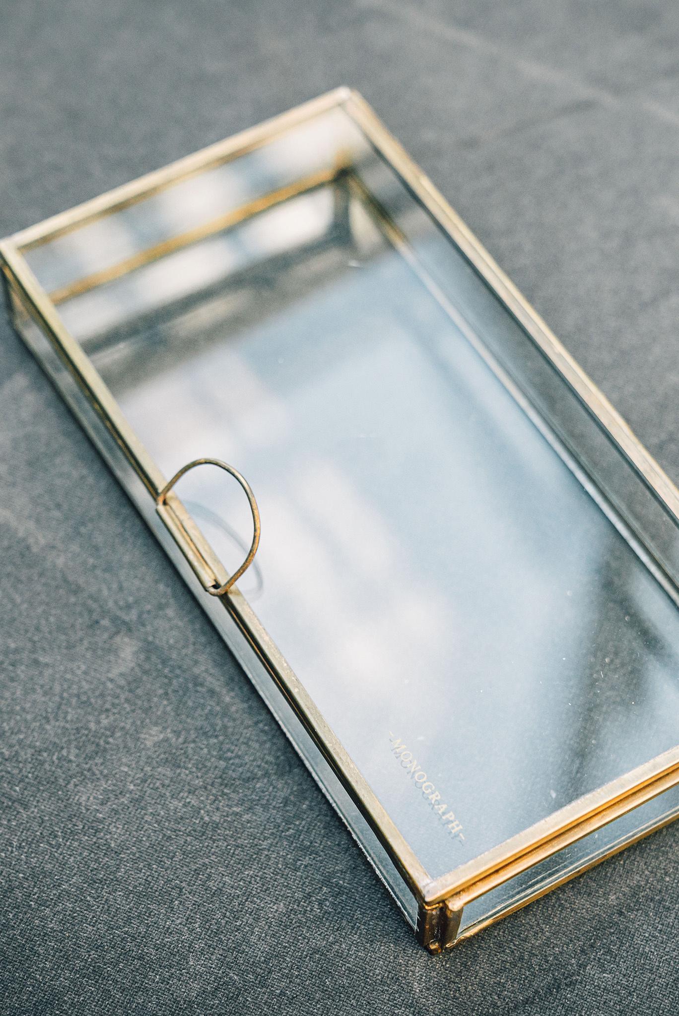 Monograph Brass Display Box