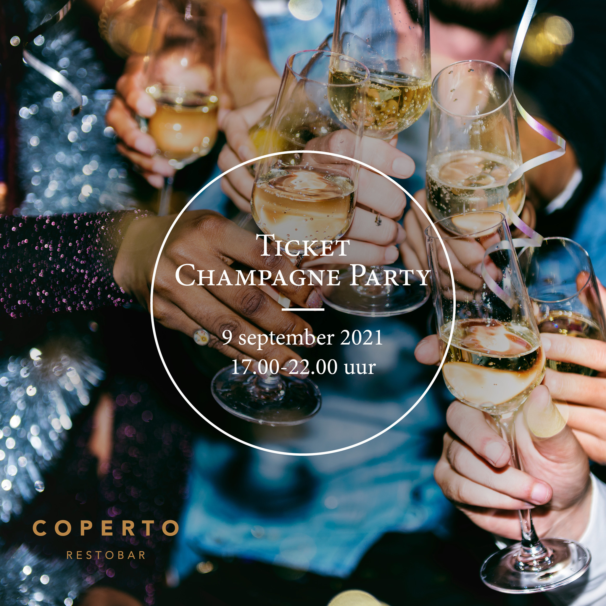 Tafel (4 pers) - Voucher Champagne Party