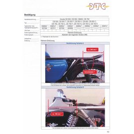 DTC DTC Rahmenkürzung Honda CB500 - CB750Four - DOHC Modelle