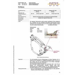 DTC  DTC Rahmenkürzung Kawasaki ZRX 1100 - ZRX1200