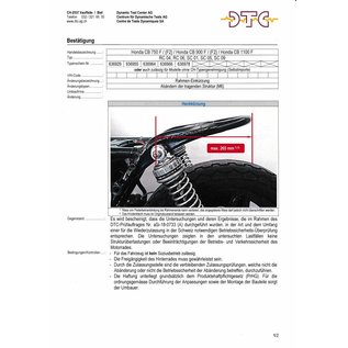 DTC   DTC Rahmenkürzung Honda CB750 F - CB900 F - CB 1100 F