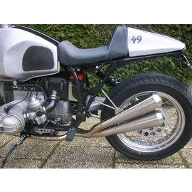 Hattech BMW R80 / 100R/GS und Mystik HATTECH GUNBALL Doppelschalldämpfer ab original Krümmer mit EG-ABE