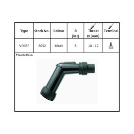 NGK NGK-Kerzenstecker VD-05 F, für 12 mm Kerze, 120?