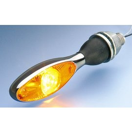 Kellermann Blinker Micro 1000 LED, chrom, Glas gelb