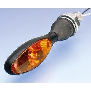Kellermann Blinker Micro 1000 LED, schwarz, Glas gelb
