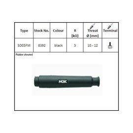 NGK NGK-Kerzenstecker SD-05 FM, gerade lang schwarz