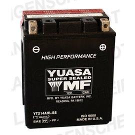 Yuasa YUASA Batterie YTX 14AHL-BS wartungsfrei (AGM) inkl. Säurepack