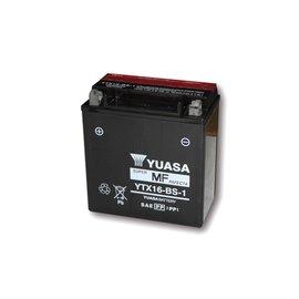 Yuasa YUASA Batterie YTX 16-BS-1 wartungsfrei (AGM) inkl. Säurepack