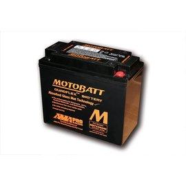 MOTOBATT Batterie MBTX20UHD, schwarzes Gehäuse.