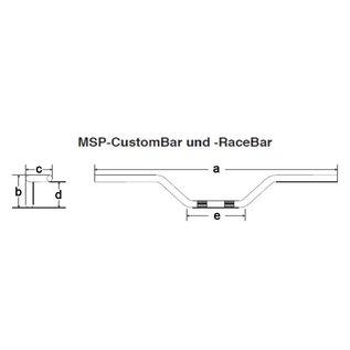 Fehling CustomBar 850 mm schwarz