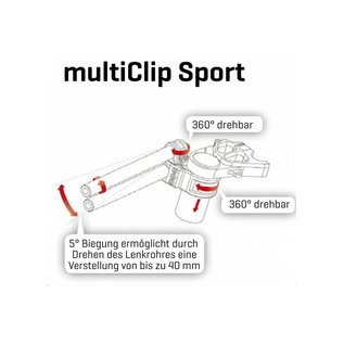 ABM ABM multiClip Sport Stummellenker 48/40 mm
