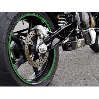 Felgenrandaufkleber grün, GP style