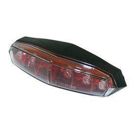 KOSO KOSO Mini LED-Rücklicht, roter Reflektor mit Klarglas, mit Befestigungsbolzen M5