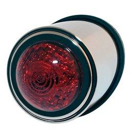 Shin Yo SHIN YO LED-Rücklicht OLD SCHOOL TYP1, chrom, rotes Glas, E-gepr.