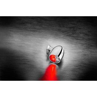 Kellermann Bullet Atto DF, Rück-/Bremslicht Blinker, chrom, klares Glas, Stück