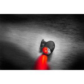 Kellermann Bullet Atto DF, Rück-/Bremslicht Blinker, schwarz, klares Glas, Stück