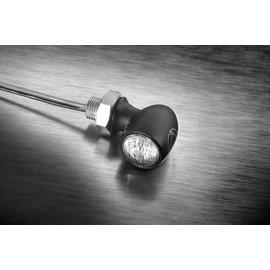 Kellermann LED-Rück-/Bremslicht Bullet Atto, schwarz, klares Glas, E-gepr., für horizontale Montage, Stück