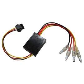 Highsider Ersatz-Elektronikbox 1 für Rück-, Bremslicht, Blinker Einheit BLAZE, Stecker schwarz