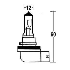 H8 Glühlampe 12V 35W PGJ 19-1