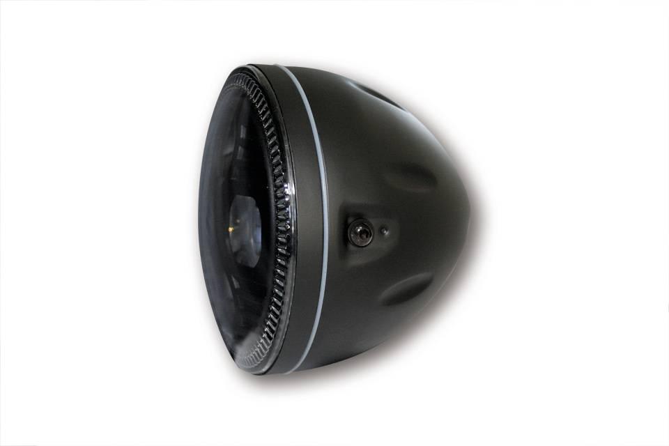 schwarz Metall HIGHSIDER 5 3//4 Zoll LED-Hauptscheinwerfer ATLANTA