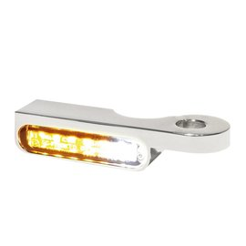 HeinzBikes LED Armaturen Blinker-Positionslicht-Kombination SOFTAIL Modelle -14, silber