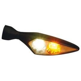 Kellermann LED-Blinker / Positionsleuchte Micro Rhombus PL, schwarz, vorne links