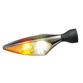 Kellermann LED-Blinker / Positionsleuchte Micro Rhombus PL, Titan, hochglanzpoliert, v/r