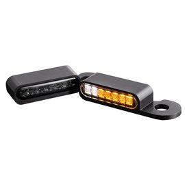 HeinzBikes LED Armaturen Blinker-Positionslicht-Kombination CVO Modelle 02-, schwarz