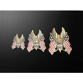 HIGHWAY HAWK Aufkleber Adler/USA Flagge, Gr. S