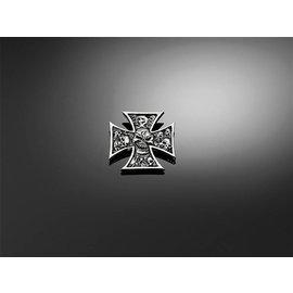 HIGHWAY HAWK Aufkleber Gotisches Kreuz mit Totenkopf, Gr. XS