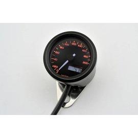 Daytona DAYTONA VELONA, Digitaler Tacho, bis 200 km/h,  rund d 48 mm, schwarz