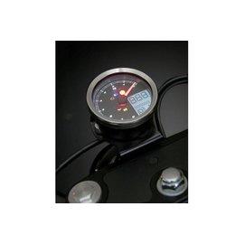 KOSO KOSO Digitales Multifunktions-Cockpit, TNT-04 Drehzahlmesser /Tachometer mit Chrom Ring