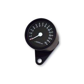 Drehzahlmesser 15.000 U/Min, d 60 mm, schwarz/schwarz