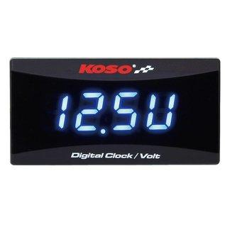 KOSO Batteriespannungsanzeige und Uhr KOSO für alle 12 V Gleichstrom-Batterien