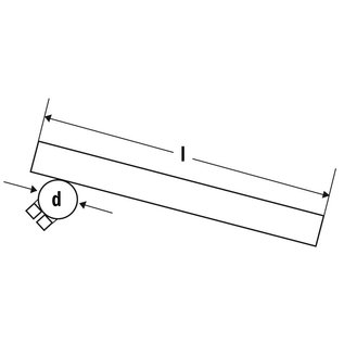 Fehling Fehling Stummellenker Montage Gebelstandrohr 38 mm, Länge 265 mm